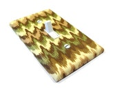 Metallic Gold Chevron Light Switch Cover Switchplate Switch Plate Modern Lighting 1644