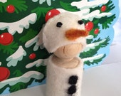Meet Snowy the Snowman  Waldorf Peg People Winter Snow