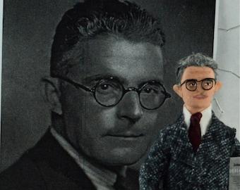 John B. Watson Behaviorism Psychology Doll Art Miniature