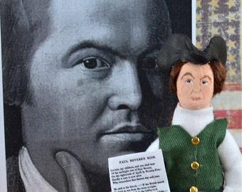 Paul Revere American History Doll Art Miniature
