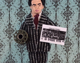 Frederico Fellini Doll Art Miniature Film Directory History Character