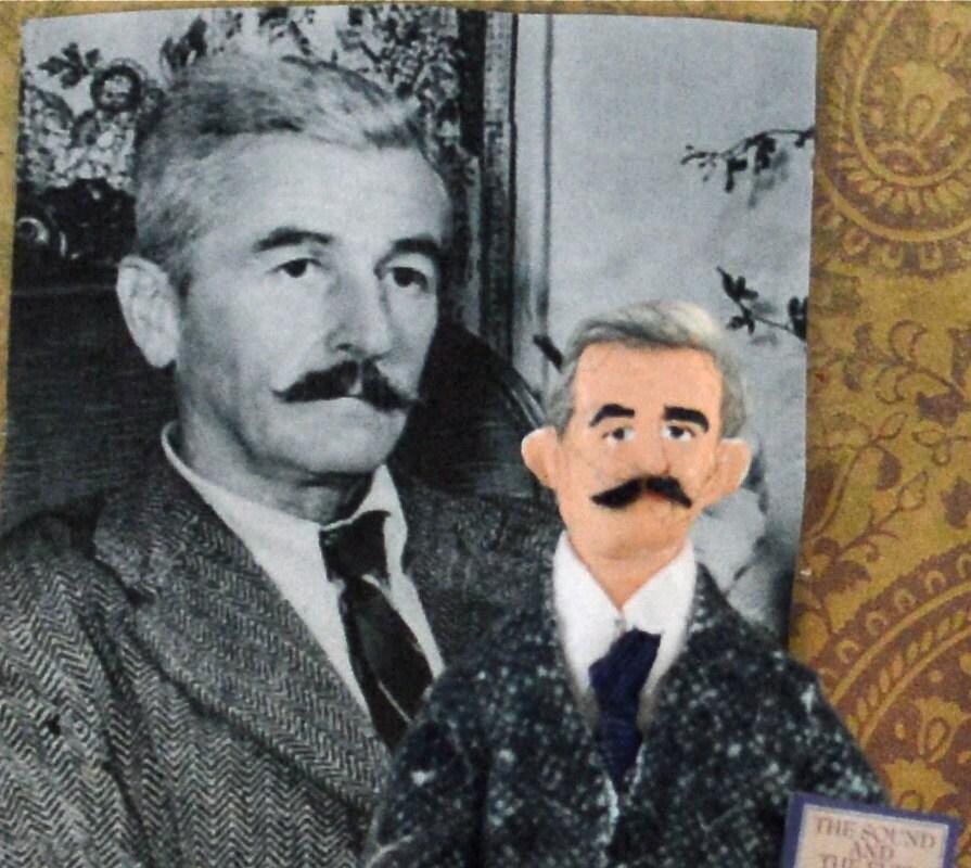 William Faulkner Writer Doll Miniature Art par UneekDollDesigns