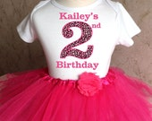 Custom Name Age Pink Cheetah Large Number Birthday Girl Personalized Shirt & Tutu Set outfit Party Dress Seventh 7th 2t 3t 4t 5t 5/6 7