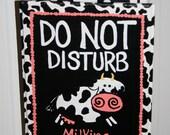 MILKING IN PROGRESS Cow Door Hanger Sign for Breastfeeding Mamas