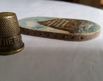 1930s PRUDENTIAL Insurance Company Sewing Pin Kit & Brass Thimble Collection