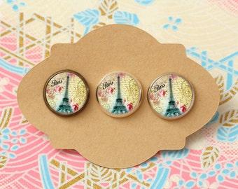 10 pcs handmade Eiffel Tower - earrings,  pendant, ring - 12mm (PW-038)