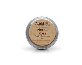 Neroli Rose Solid Perfume Fragrance Balm with Shea Butter