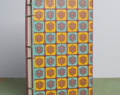Handbound Sketchbook with Upcycled Vintage Cover