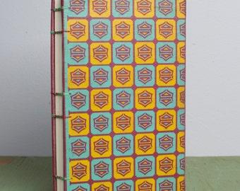 Handbound Sketchbook with Upcycled Vintage Cover