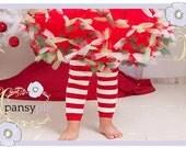 Christmas Leggings Christmas Leg Warmers Red And White Leg Warmers Toddler Leg Warmers
