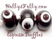 made to order  Espresso Truffles Art Glass Bead Set SRA Chocolates lampwork