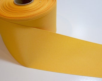 Wide Yellow Ribbon, Offray Yellow Gold Grosgrain Ribbon 3 inches wide x 3 yards