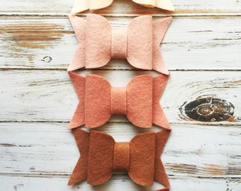Large Chunky Bows - Peach Ombré - A Market Collection Original