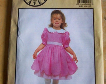 Simplicity 9606 childs dress sewing pattern