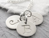 Silver Initial Necklace Mother Necklace Personalized Jewelry Initial Jewelry Mother Jewelry Mother's Day Gift Holiday Gift