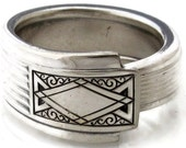 Art Deco Spoon Ring Size 9 Noblesse Men