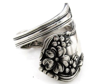 Spoon Ring, Medium Size 4 To 10 Arbutus Wrapped