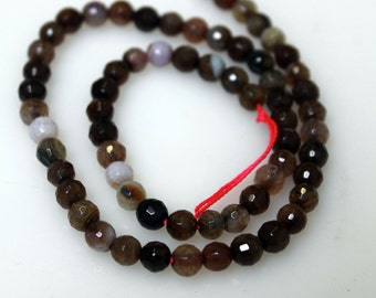 Agate Round Faceted 6 mm Beads