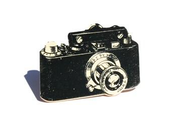 Camera Tiny Pin Camera Pin Camera Jewelry Vintage Camera Shrink Plastic Black and White Camera Camera Tie Tack Groomsman Gift Vintage Print