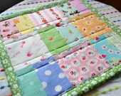 Spring Mini Quilt Spring Mug Rug Easter Quilt Milk Sugar Flower Mini Quilt Table Mat Snack Mat Table Topper Dresser Mat Art Quilt
