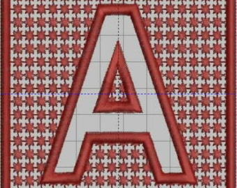 Emboss Me Squares Monogram Embroidery Designs