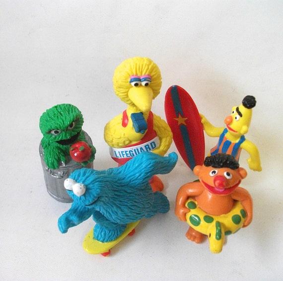 Sesame Street Toys For Toddlers : Vintage sesame street figures muppets toys for