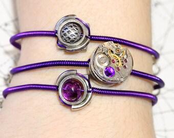 Cybersteam - 3 Bracelets - Purple