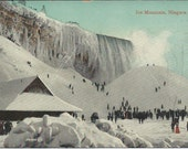 Niagra Falls Antique Postcard Unused Ice Mountain