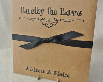 Rustic Wedding Favors - Lottery Favors - Rustic Wedding Decorations | Lucky In Love | Rehearsal Dinner Favors  | Wedding Lottery Favors