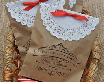 Favor Bags - Wedding Favors - Rustic Wedding Favors - Country Favors