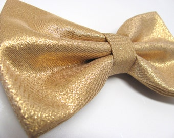 Mens Bowties. Lamé Gold Metallic Bowtie