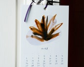 2015 illustrated calendar | beautiful watercolors and handwriting | wall calendar | English | Français