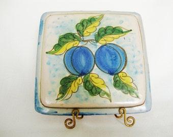 vintage pottery trivet wall plaque Fratantoni for Vietri Italy terracotta pottery