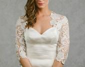 Amelia | Lace Bridal Bolero