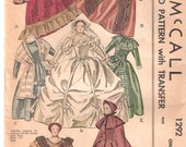 40s McCall 1292 Costumes for Godey Lady Book Dolls 12 Inches High