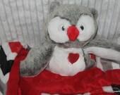 Security Blanket, Baby Blanket, Lovie - Owl - medium  Lovems