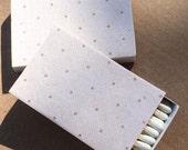 10 Matchbox Wedding Favors Cream Brown beige polka dot