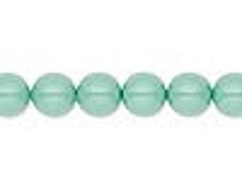10 Jade Swarovski Crystal Pearl Beads, 8mm round.