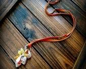 My Valentine, Western Cowgirl Southwestern Boho Rainbow Jade Gemstone & Heart Cluster Necklace