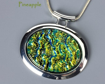 Fused Glass Pendant by BluDragonfly SRA - Pineapple