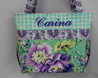Amy Butler Love .. Bliss Bouquet   ... Diaper Bag ..  Tote ... Monogrammed FREE...