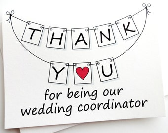 Wedding Coordinator Thank You Card