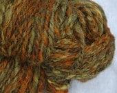 Hand Dyed Hand Spun Jacob Sheep Chunky Yarn,    Faith Healer 100 grams