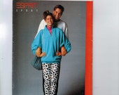 1980s Vintage Sewing Pattern Butterick 5773 Misses Top Pants Loose Fitting Stretch Knit Leggings Size 6 8 10 Bust 30 32 33 31 80s  99
