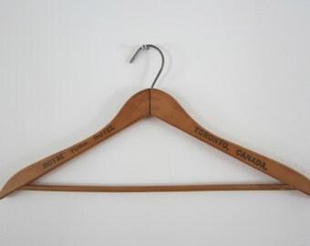 TORONTO Canada Royal York Hotel - Wooden Advertising Hanger - Commercial Store Front Display Pants Holder Historical Memorabilia