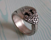 Antique Spoon Ring, Silver Pattern: Lovely Lady