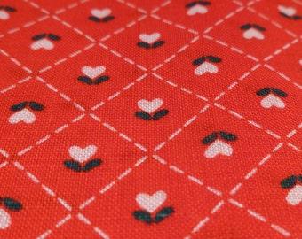 Simple Hearts - Vintage Fabric - Cotton - Country Classic Folk-Art Christmas - Ameritex