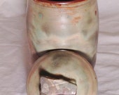 Gun Metal Green Lidded Pot