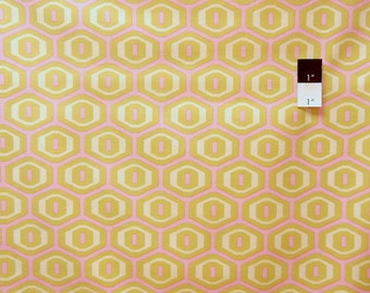 Amy Butler AB25 Midwest Modern Honeycomb Ivory Cotton Fabric 1 Yard