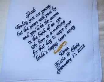 Ring Bearer Custom Wedding Handkerchief, personalized wedding gifts Ring Bearer
